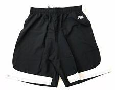 New Balance Lacrosse Shorts Lax Mens Large Black White Crossfit Gym Shorts