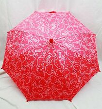 NWT Hello Kitty Umbrella by Sanrio Newest Style for Rainy Day or Sunny Day Red