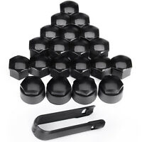 Set of 20Pcs 19mm Black Wheel Nut Bolt Covers Caps for Any Car Locking