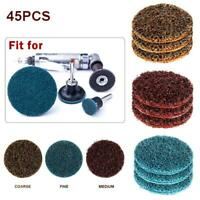 45PCS Medium Thick Grit Sanding Cleaning Discs Surface Conditioning Roller Lock