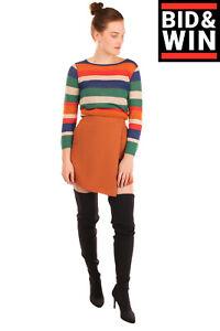 The FIFTH LABEL Mini Wrap Skirt Size XS Asymmetric Hem Fully Lined Hand Pockets
