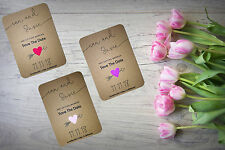 Personalised Save The Date Night Evening Cards X 50  Rustic Magnetic A6 SD290