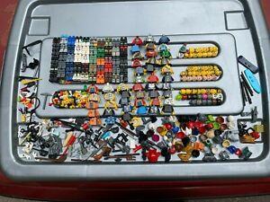 LEGO LARGE BULK LOT OF MINIFIGURES PARTS / PIECES / ACCESSORIES, MINIFIG