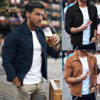 New Mens Fashion Casual Jacket Warm Winter Motorbike Coat Slim Outwear Overcoat