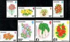 Ascension 1981  Flowers  SG.289A/296A Mint (MNH)  Without Date Imprint  Part Set