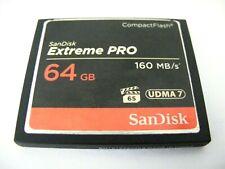 64gb Compact Flash Card EXTREME PRO UDMA 7 (64 GB CF mappa) SANDISK USATO