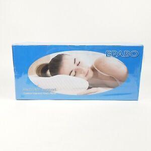 EPABO Neck Pain Support Pillow Contour Memory Foam Firm Queen Size