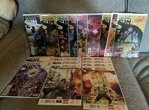 ORIGINAL SIN 0 1-8  Marvel Comics Complete Set Lot Run Avengers
