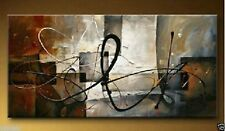 GUDI- Large Modern Abstract Art Manual Oil Painting Wall Deco Canvas Unframed