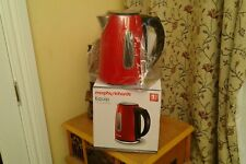 ELECTRIC JUG KETTLE..1.7L(stainless steel/cordless)...RED..NEW...MORPHY RICHARDS