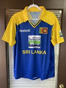 Vintage Reebok Sri Lanka Soccer Jersey XL Shirt Futbol Cricket Yellow