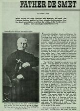 Father Peter De Smet Jesuit Priest In Montana +Bandini,Caltado,Giorda*, Ravalli*