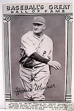 Honus Wagner Baseball Great Hall Of Fame Exhibit Card