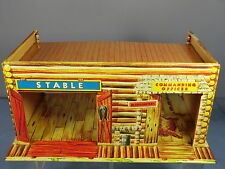 "VINTAGE BANDA STAGNATA METTOY No. ""FAR WEST"" FORT COMMANDER ""log"" CABIN/scuderie"