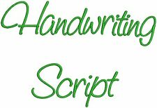 "HandWriting Fonts Machine Embroidery Designs CD 4"" Font"