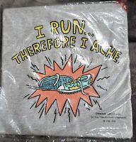 Hallmark Shoebox Greetings I Run Therefore I Ache Grey Tshirt Size XL NEW SEALED