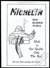 1919 Bibendum Michelin Man with cigar art Michelin tires BIG vintage print ad
