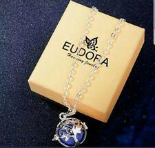 EUDORA Tree Of Life Silver Box Cage Necklace Locket Angel Caller Pendent Harmony