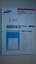 Samsung max-440 service manual original repair book stereo cd player radio