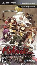 Hakuoki: Warriors of the Shinsengumi [Sony PlayStation Portable PSP, Action] NEW