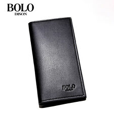 Men's Long Purse Black Bags Leisure Wallet Capacity Fashion Handbag Purses Gifts