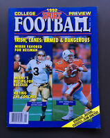 PETERSEN'S 1992 COLLEGE FOOTBALL PREVIEW Magazine Guide VG+ Rick Mirer Cover