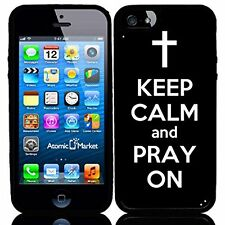 Black Keep Calm and Pray On For Iphone 6 Case Cover