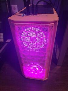 Pink Gaming Pc Desktop with Rose Gold Monitor GeForce 1080ti 16 gb ram 1 tb M.2.