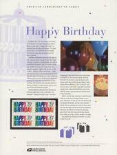 #673 37c Happy Birthday #3695 USPS Commemorative Stamp Panel