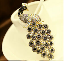 Crystal gem Diamonds Rhinestone Peacock TPU soft gel back Case skin Cover #G