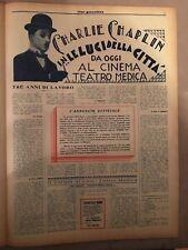 cine-gazzettino,1931,Luci della Citta' CHARLIE CHAPLIN City Lights,PITTALUGA