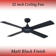 Genesis 52 inch (1300mm) Matt Black Ceiling Fan