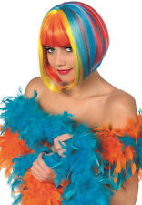 Raver Rainbow Bob-Perücke bunt NEU - Karneval Fasching Perücke Haare