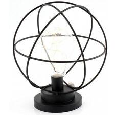 SFERA LAMPADA A LED FORMA DA COMODINO CAMERA DA LETTO ARREDAMENTO BATTERIE TIMER TAVOLA CASA LAMPADINA NUOVO