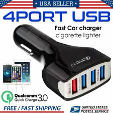 12-24V 4-Port Car Charger Fast Charging 3.0 USB for Multiple Devices Universal