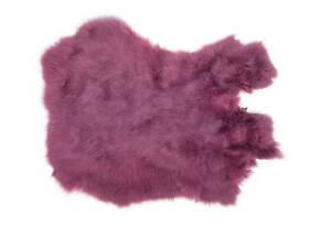 Dyed Rabbit Pelt Magenta or Light Purple Craft Grade (188-D-18) L29