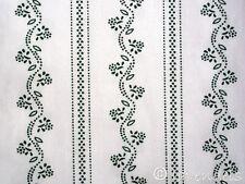 Tessuto vestito tirolese Cotone verde scuro Costume tradizionale Tessuto bianco