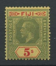 Fiji SG241 1926 5s green and red/pale yellow Mounted mint
