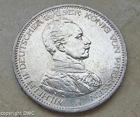 Coin Münze 5 Mark Kaiser Wilhelm Preussen 1913 A J.114 Kaiserreich Silber 10623