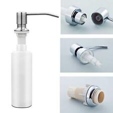 Stainless Steel Head Easy Pressed Liquid Soap Lotion PP Bottle Shampoo Container