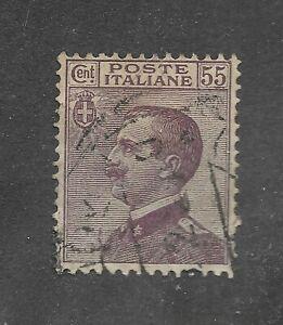 1 Timbre ° d' Italie - N° 107 ( Victor-Emmanuel III ) Emis de 1917 à 1922