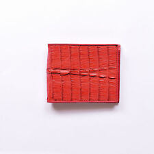 RED CROCODILE WALLET  FOLD OUT ID HOLDER GENUINE FARMED CROCODILE SKIN NEW