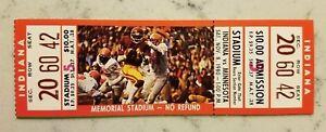 Minnesota Gophers Indiana Football Full Ticket 11/8 1980 Marion Barber Stub