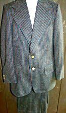 Vintage 1970s Geoffrey Beene Ltd Wide Lapel Bell Bottoms Pinstripe Men's Suit