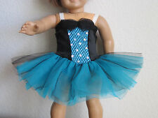 Sale! TEAL & BLACK DANCE COSTUME - 3 Very Full Tulle Skirts - fits American Girl