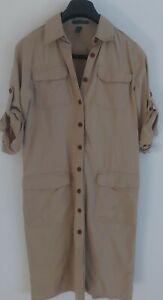Ralph Lauren Shirt Dress beige size uk 10