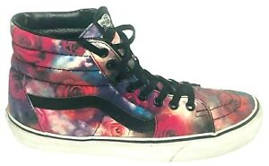 Vans Off The Wall Womens Sneakers Floral Roses Hightop Size 8.5 Mens 7