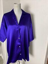 Vintage Victorias Secret Gold Label Large Lingerie PJ Pajama Top Purple