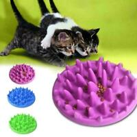 Silicone Bowl Dog Slow Feeder Pet Fun Bloat Interactive Food Healthy Eating Cats