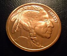 1 x 2011 INDIAN HEAD LIBERTY 1 oz AVDP .999 fine COPPER Coin